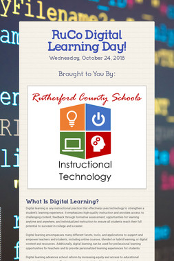 RuCo Digital Learning Day!