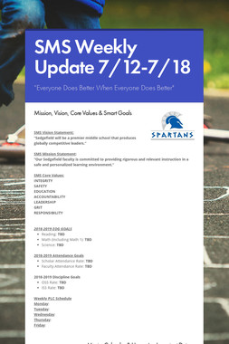 SMS Weekly Update 7/12-7/18