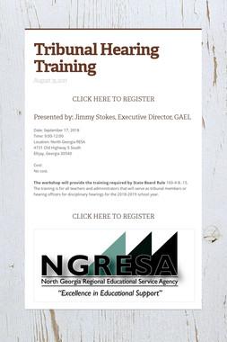 Tribunal Hearing Training