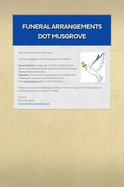 Funeral Arrangements Dot Musgrove
