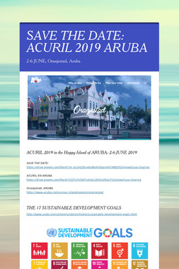 SAVE THE DATE: ACURIL 2019 ARUBA