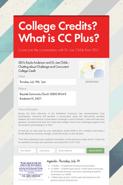 College Credits? What is CC Plus?