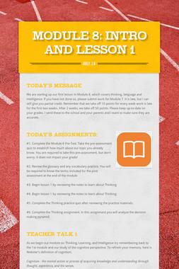 MODULE 8: Intro and Lesson 1