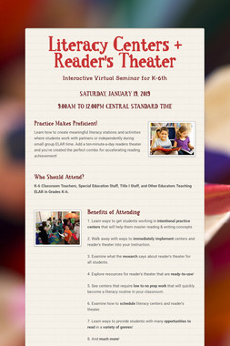 Literacy Centers + Reader's Theater