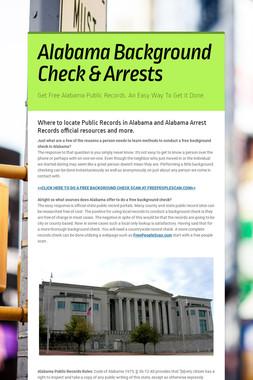 Alabama Background Check & Arrests