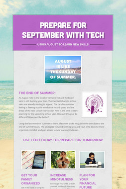 Prepare for September with Tech