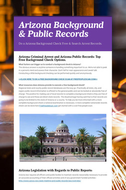 Arizona Background & Public Records