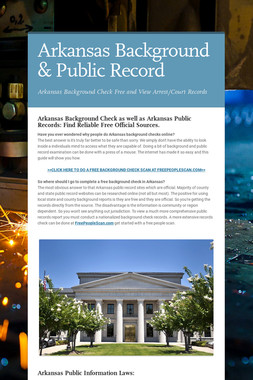 Arkansas Background & Public Record