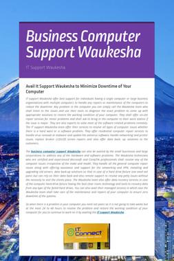 Business Computer Support Waukesha