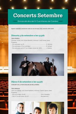 Concerts Setembre