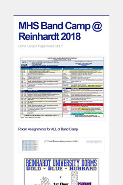 MHS Band Camp @ Reinhardt 2018