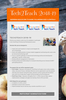 Tech2Teach 2018-19