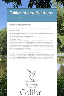 Colibri Integral Solutions