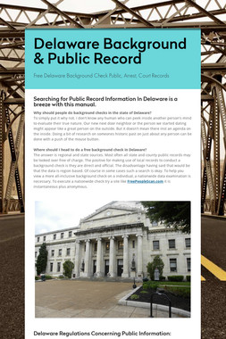 Delaware Background & Public Record