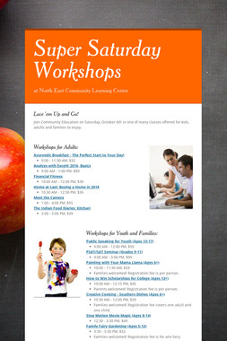Super Saturday Workshops