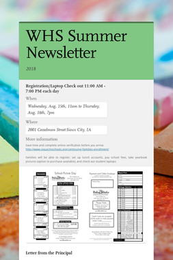 WHS Summer Newsletter