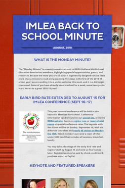 IMLEA Back to School Minute