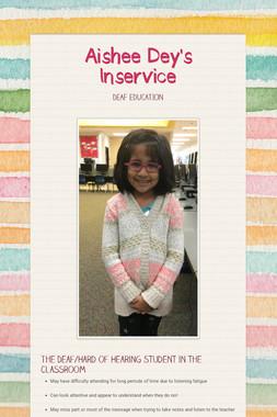 Aishee Dey's Inservice
