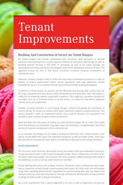Tenant Improvements