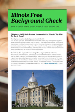 Illinois Free Background Check