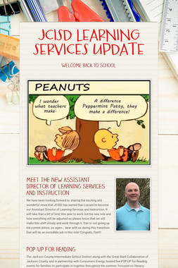 JCISD LEARNING SERVICES UPDATE