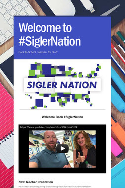 Welcome to #SiglerNation
