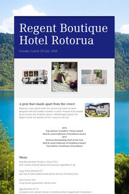 Regent Boutique Hotel Rotorua