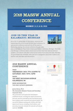 2018 MASSW Annual Conference