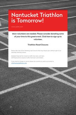 Nantucket Triathlon is Tomorrow!