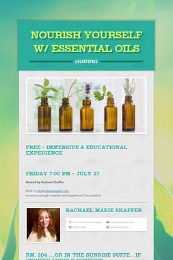 Nourish Yourself w/ Essential Oils