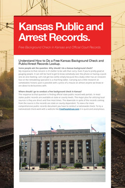 Kansas Public and Arrest Records.