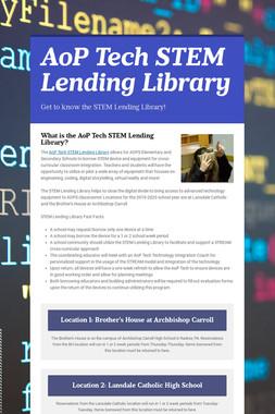 AoP Tech STEM Lending Library