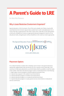 A Parent's Guide to LRE