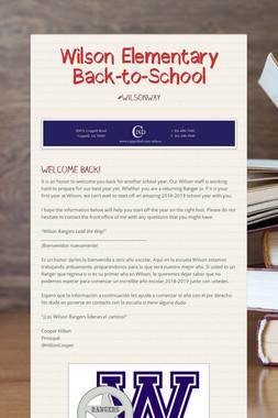 Wilson Elementary Back-to-School