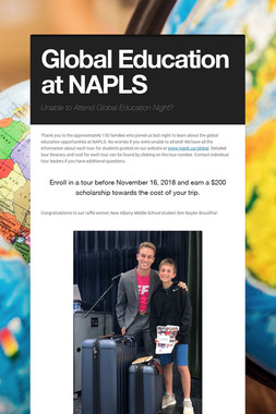 Global Education at NAPLS