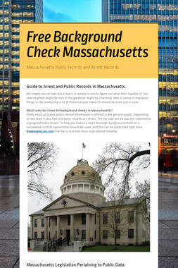 Free Background Check Massachusetts