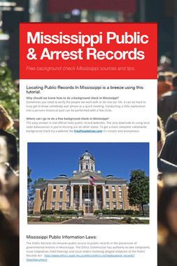 Mississippi Public & Arrest Records