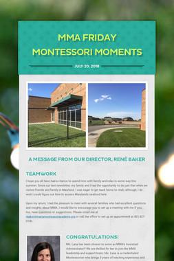 MMA Friday Montessori Moments