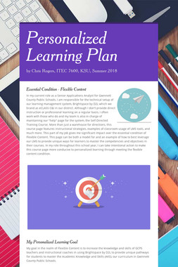 Personalized Learning Plan
