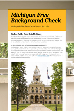 Michigan Free Background Check