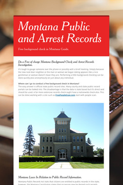 Montana Public and Arrest Records