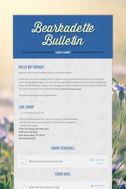 Bearkadette Bulletin