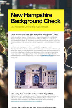 New Hampshire Background Check
