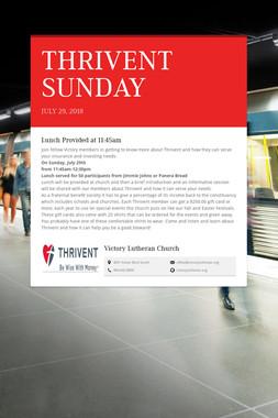 THRIVENT SUNDAY