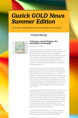 Guzick GOLD News Summer Edition