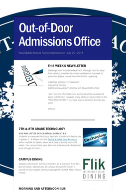 Out-of-Door Admissions Office