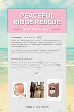 Peaceful Ridge Rescue