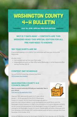 Washington County 4-H Bulletin