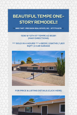 Beautiful Tempe One-Story Remodel!!