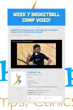 Week 7 Basketball Camp Video!